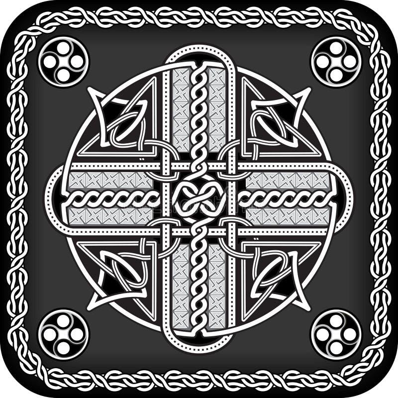 Bouton dans de style celtique illustration stock