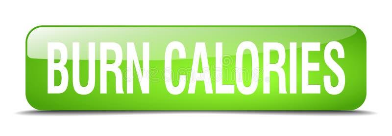 bouton de calories de brûlure illustration libre de droits