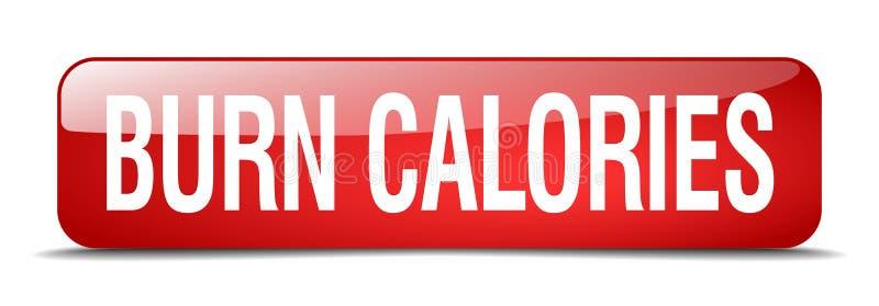 bouton de calories de brûlure illustration stock