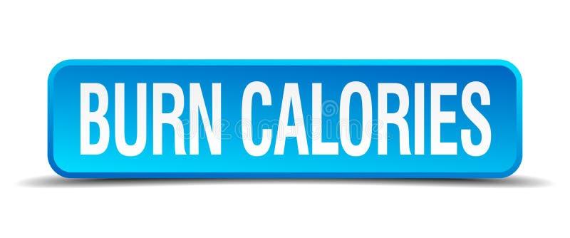 bouton de calories de brûlure illustration de vecteur