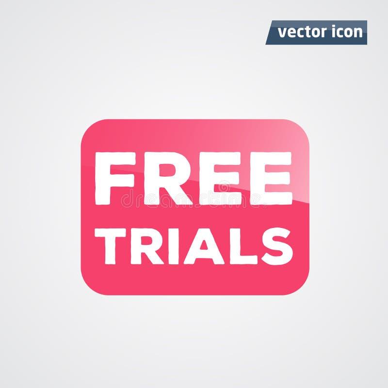 Bouton de citation de vecteur d'essais gratuits illustration libre de droits