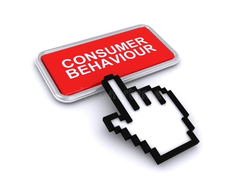 Bouton de comportement du consommateur illustration stock