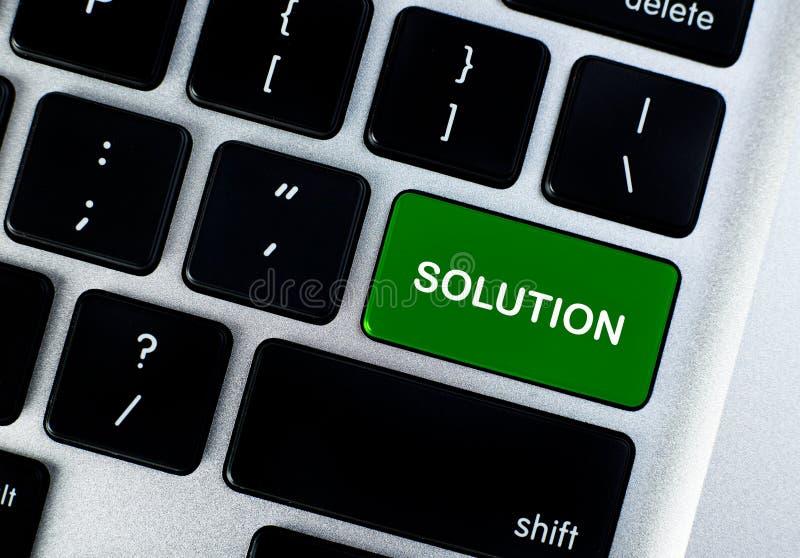 Bouton de concept de solution image libre de droits