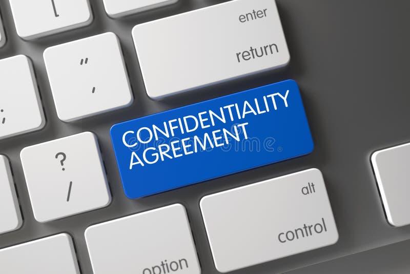Bouton de convention de confidentialité 3d illustration libre de droits