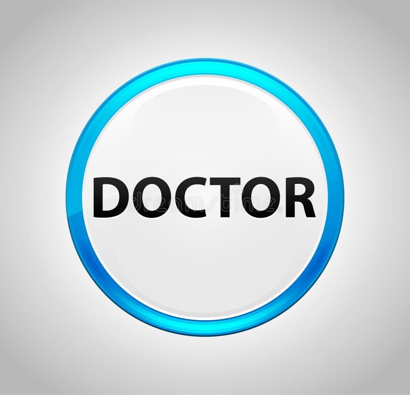 Bouton de docteur Round Blue Push illustration de vecteur