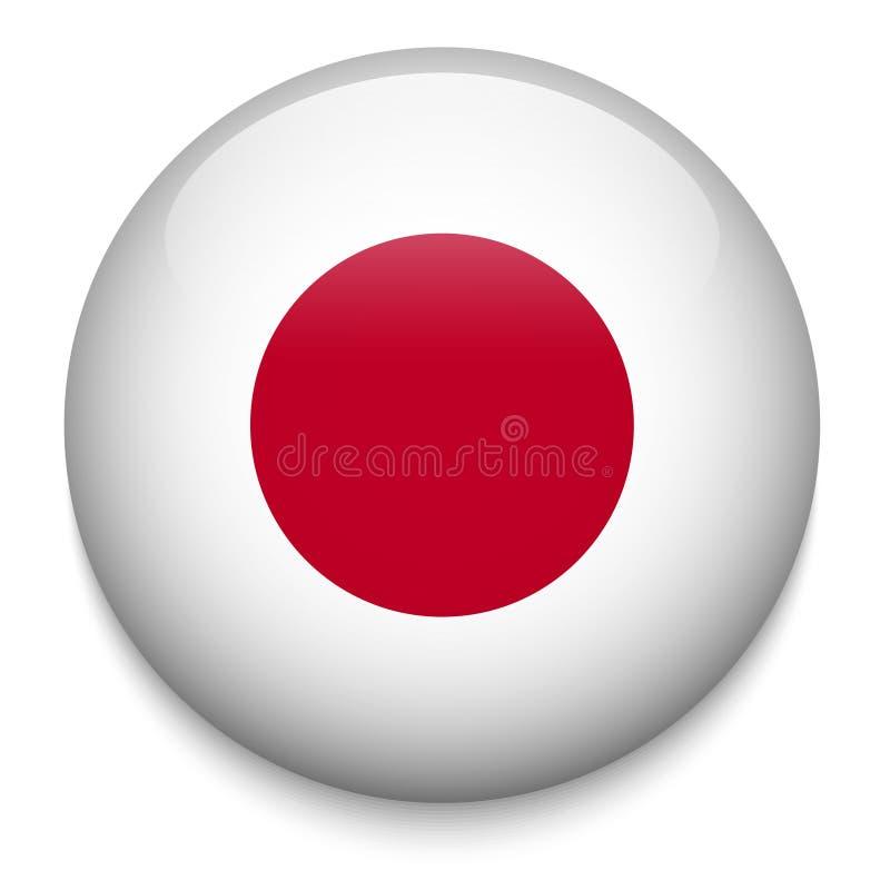 Bouton de drapeau du Japon illustration stock