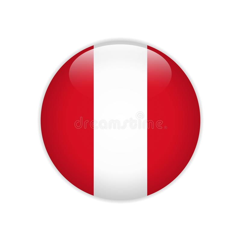 Bouton ON de drapeau du Pérou illustration stock