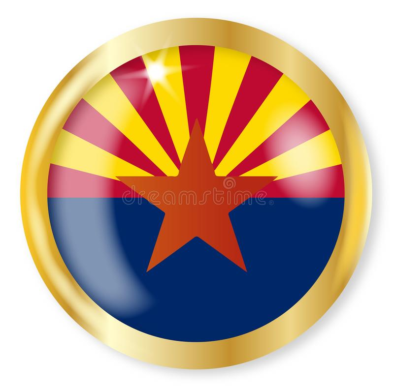 Bouton de drapeau de l'Arizona illustration de vecteur
