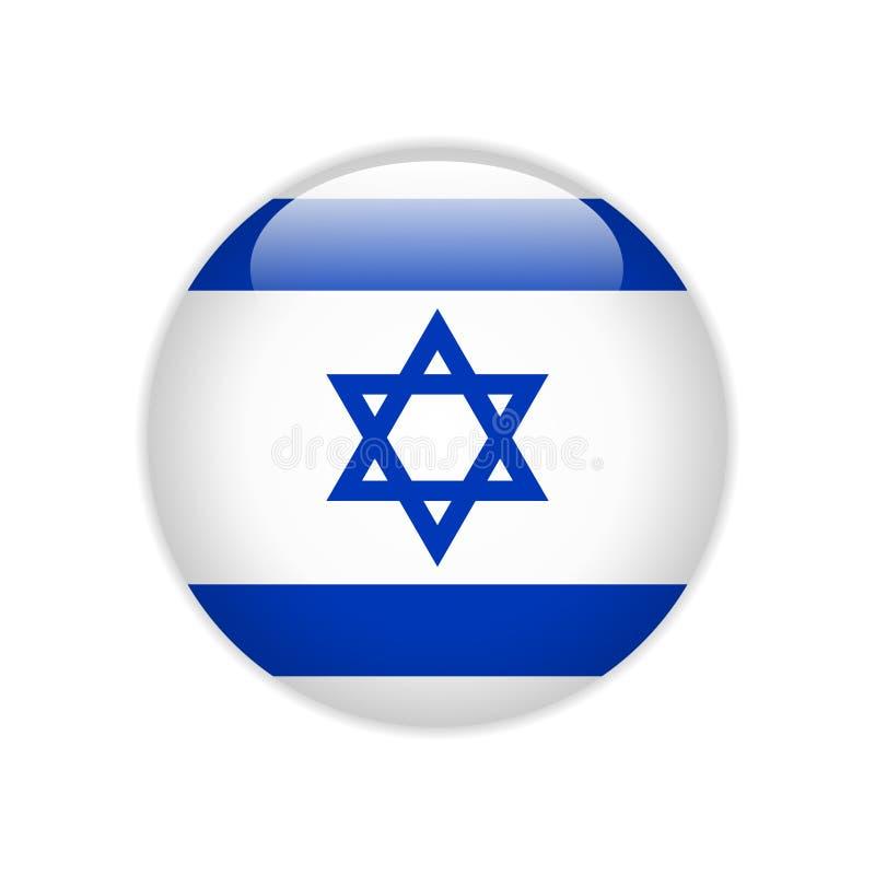 Bouton ON de drapeau de l'Israël illustration de vecteur