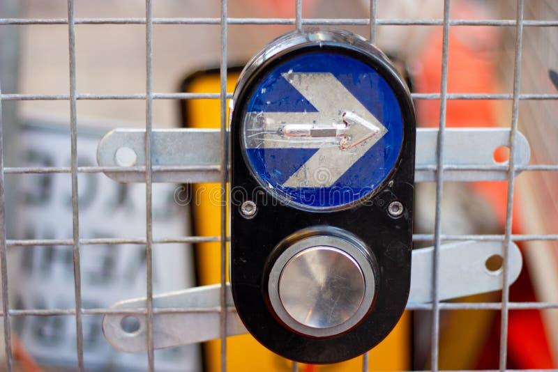 Bouton de feu de signalisation de Sydney, passage pour piétons de feu de signalisation b image libre de droits