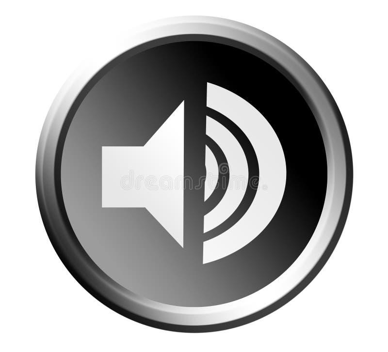 Bouton de haut-parleur illustration stock