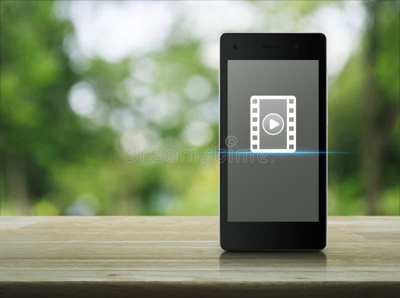 Bouton de jeu avec l'icône de film photos stock
