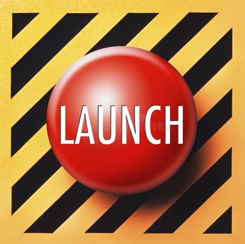 Bouton de lancement illustration stock