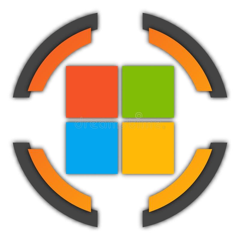 Bouton de Microsoft illustration stock