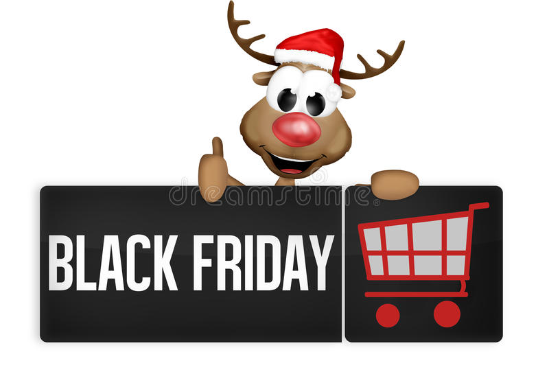 Bouton de noir de Black Friday illustration libre de droits