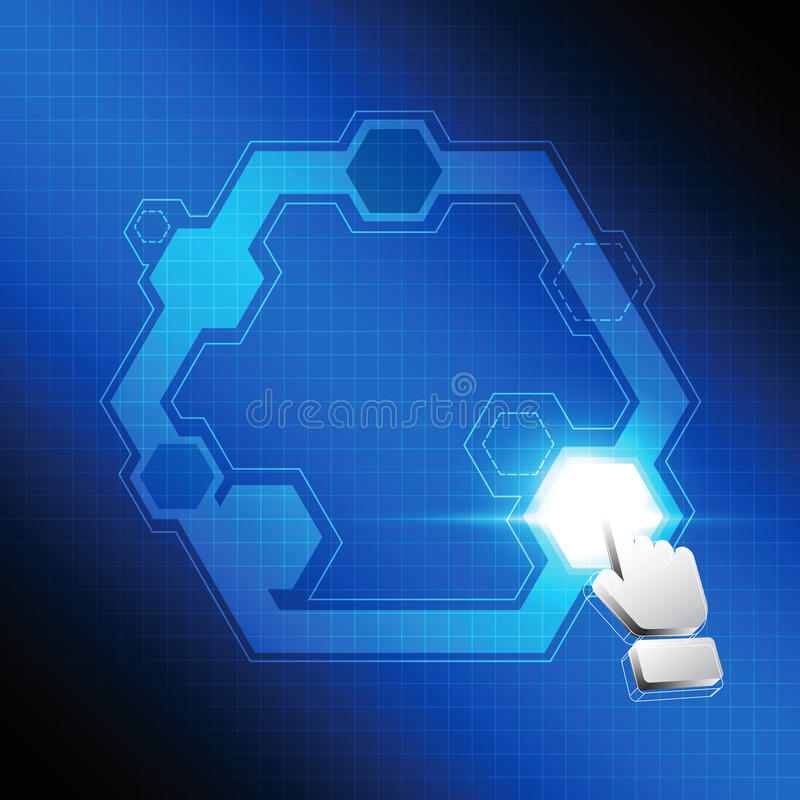 Bouton de polygone de clic de curseur