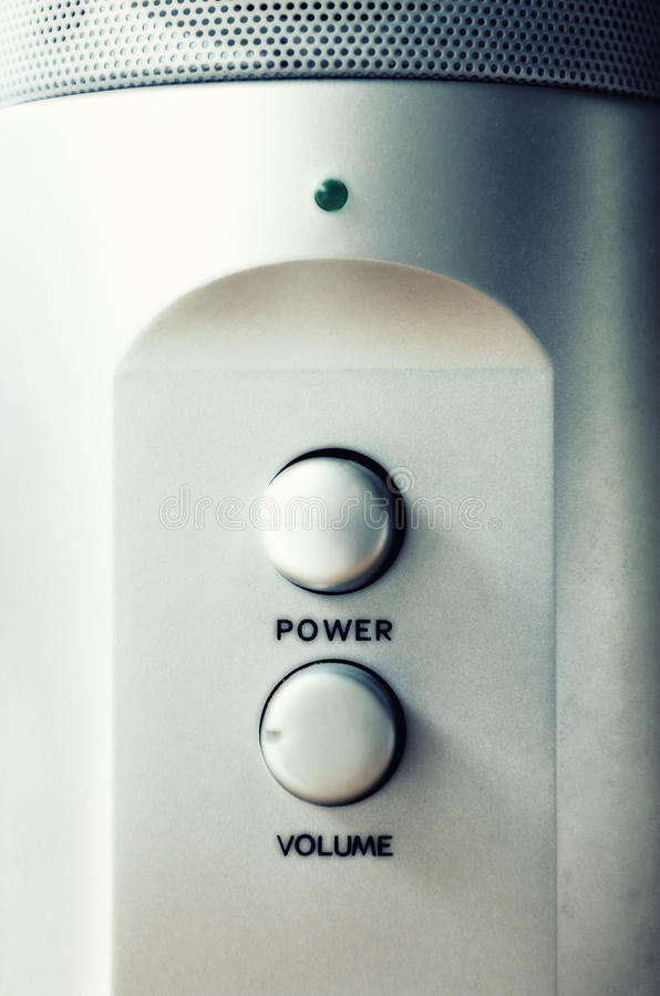 Bouton de pouvoir et molette de volume images libres de droits