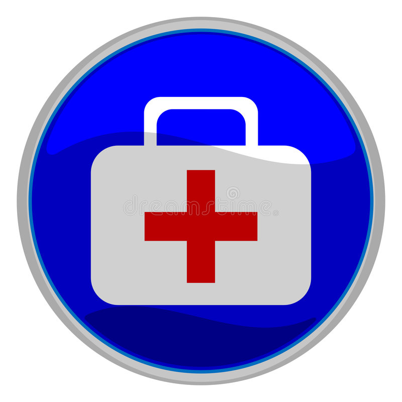 Bouton de premiers soins illustration libre de droits