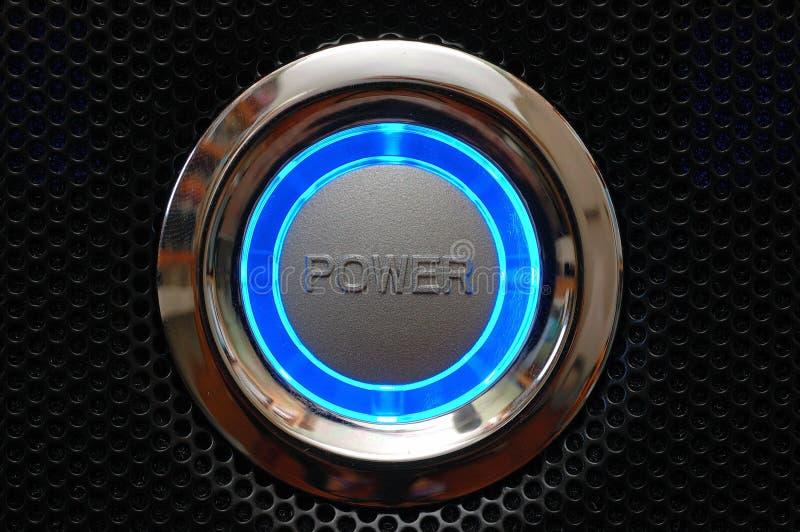 Bouton de puissance d'ordinateur image stock