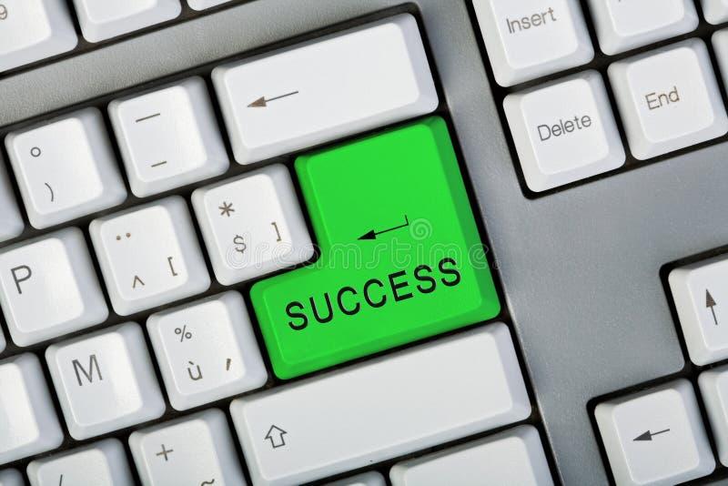 Bouton de réussite images stock