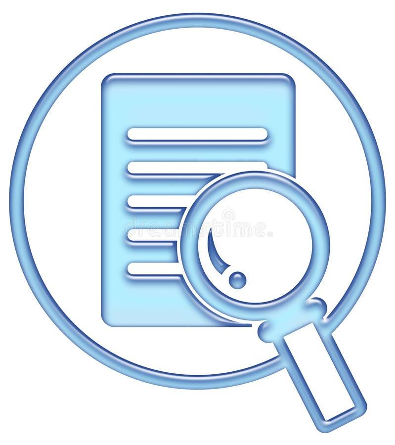 Bouton de recherche, graphisme de recherche illustration libre de droits