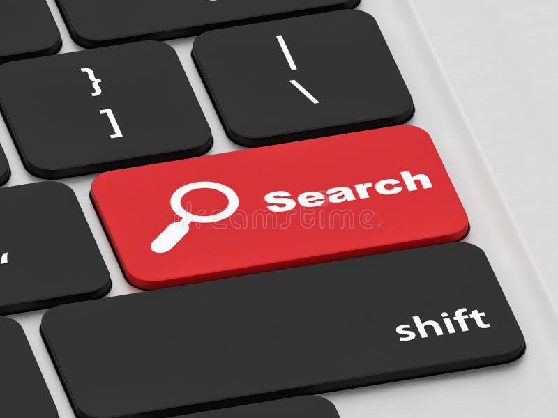 Bouton de recherche sur un clavier photographie stock