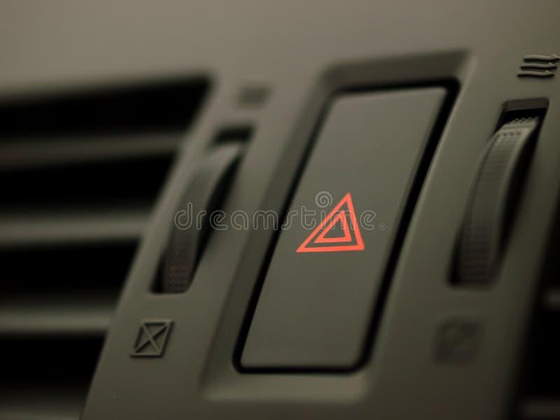 Bouton de risque de véhicule photographie stock libre de droits