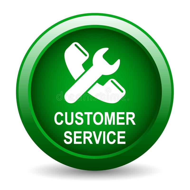 Bouton de service client illustration de vecteur