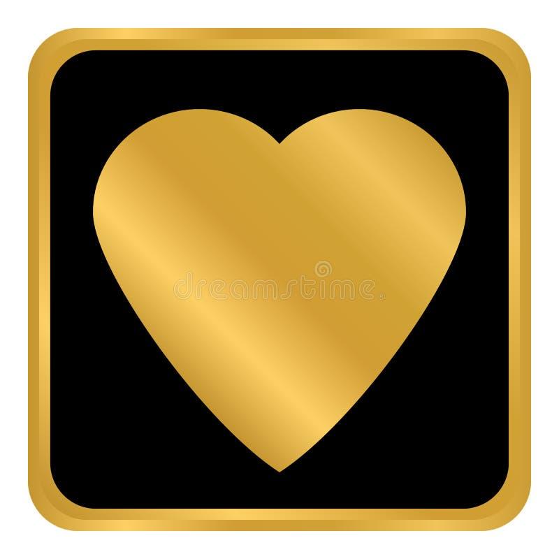 Bouton de signe d'amour illustration de vecteur