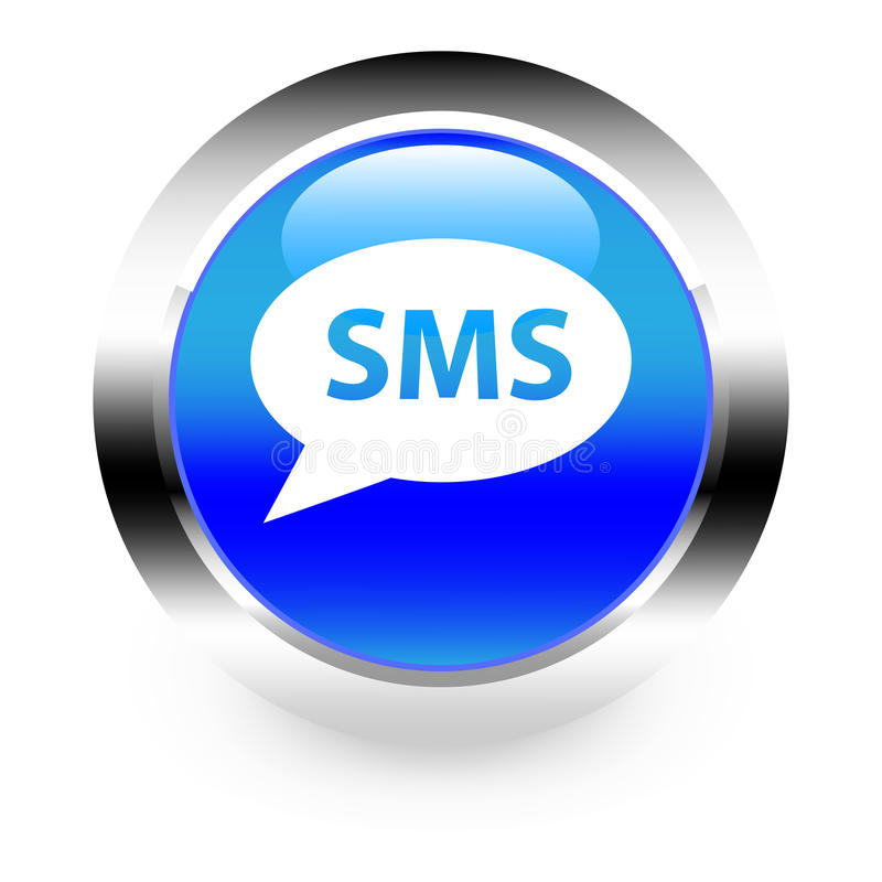 Bouton de SMS illustration stock
