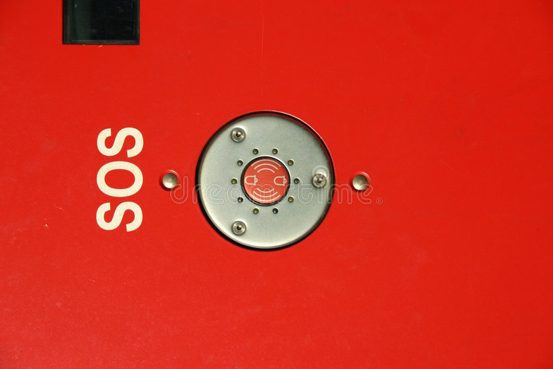 Bouton de SOS photos libres de droits