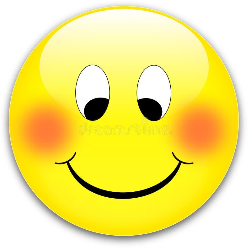 Bouton de sourire illustration stock