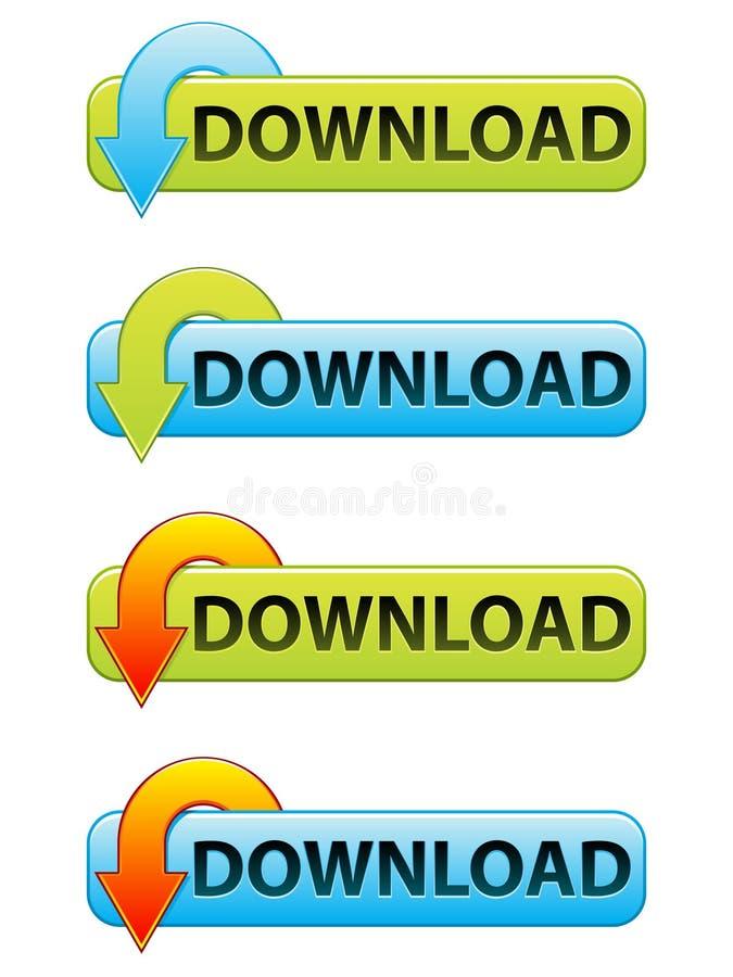 Bouton de téléchargement illustration stock