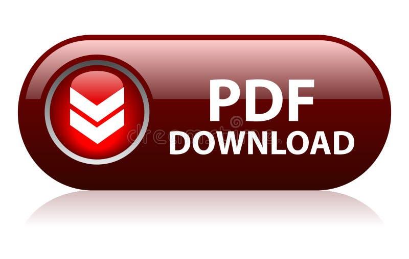 Bouton de téléchargement de pdf illustration libre de droits
