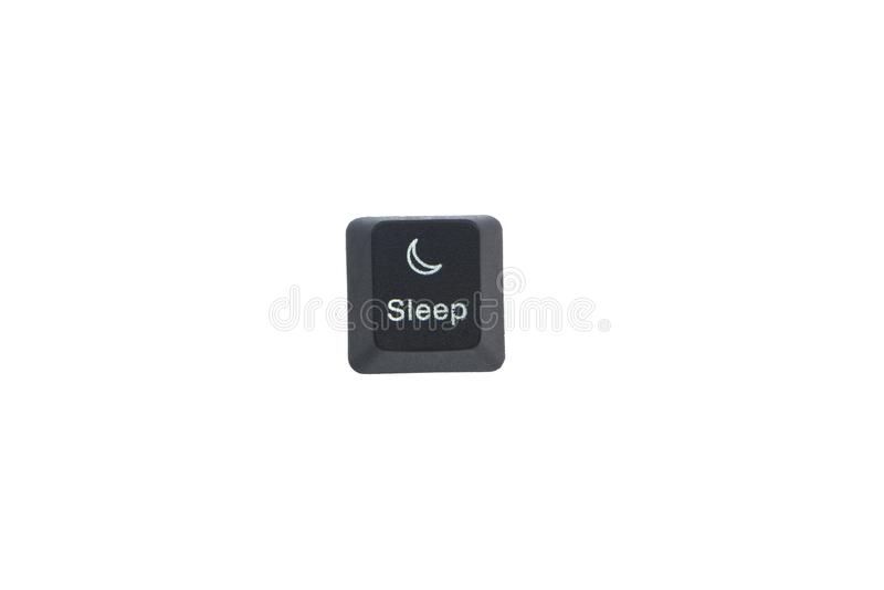 Bouton de touche d'ordinateur de sommeil images stock