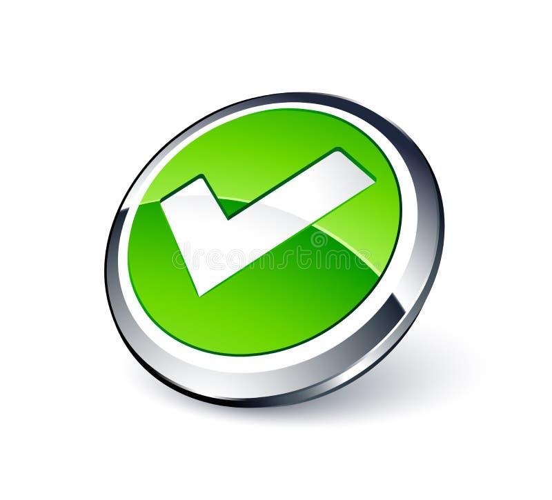 Bouton de validation illustration stock