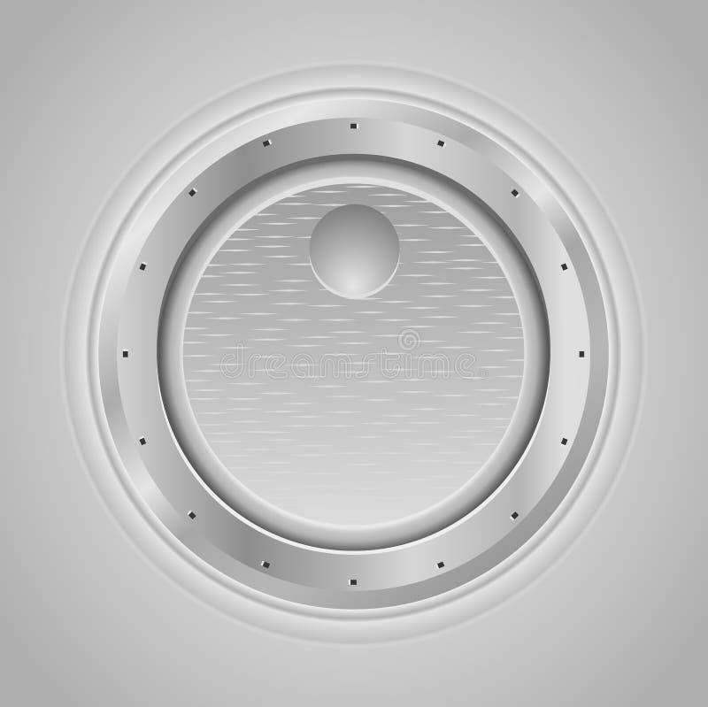 Bouton de volume avec la texture en métal illustration libre de droits