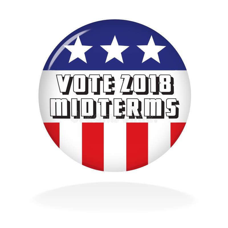 Bouton de vote 2018 moyens termes illustration libre de droits