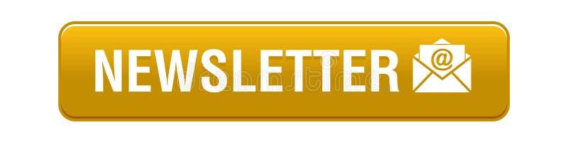 Bouton de Web de bulletin d'information illustration de vecteur