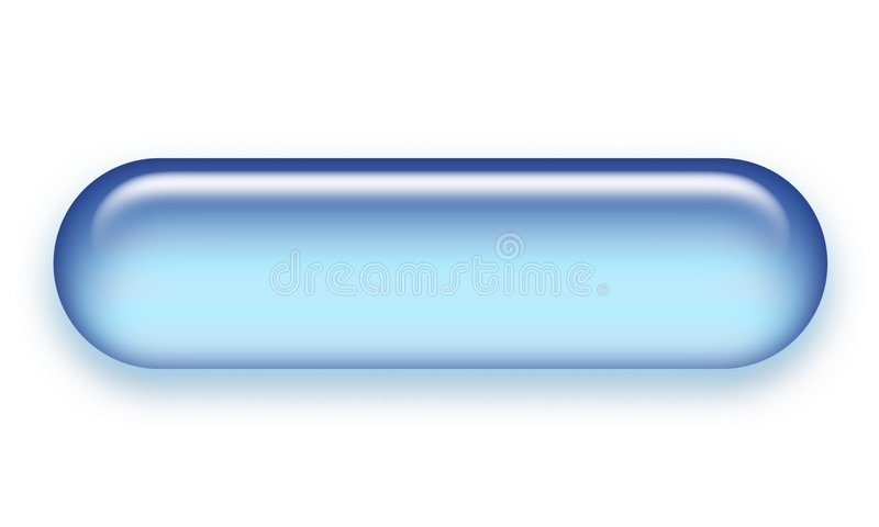 Bouton de Web d'Aqua illustration stock