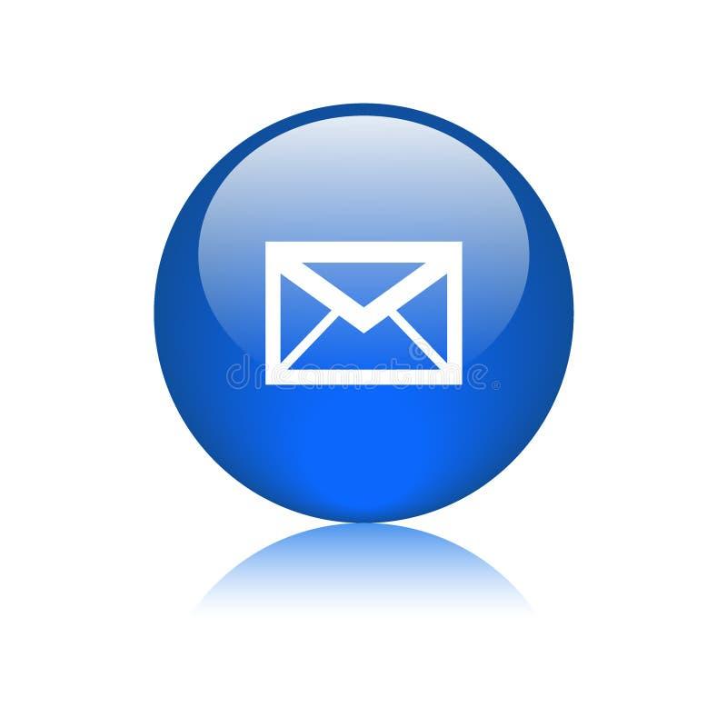 Bouton de Web d'icône de courrier rond illustration libre de droits
