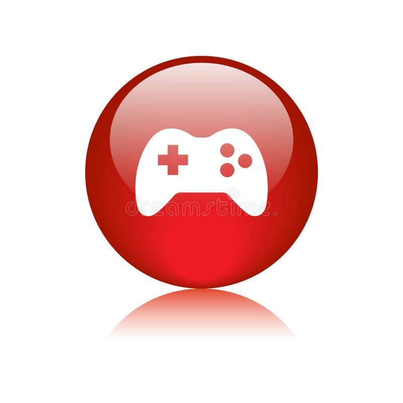 Bouton de Web d'icône de jeu illustration stock