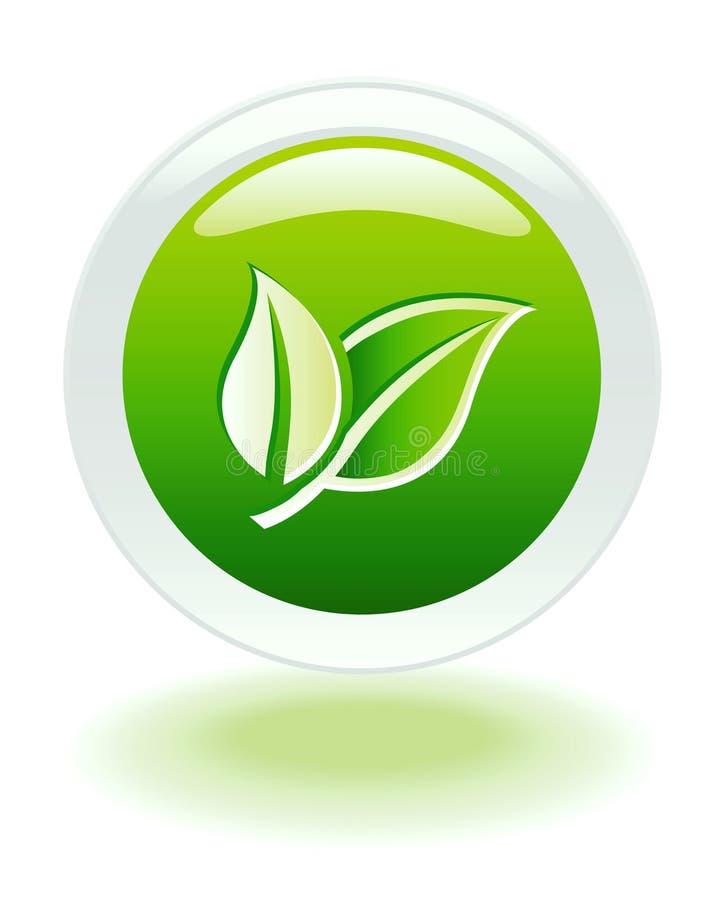 Bouton de Web d'Internet d'écologie illustration de vecteur