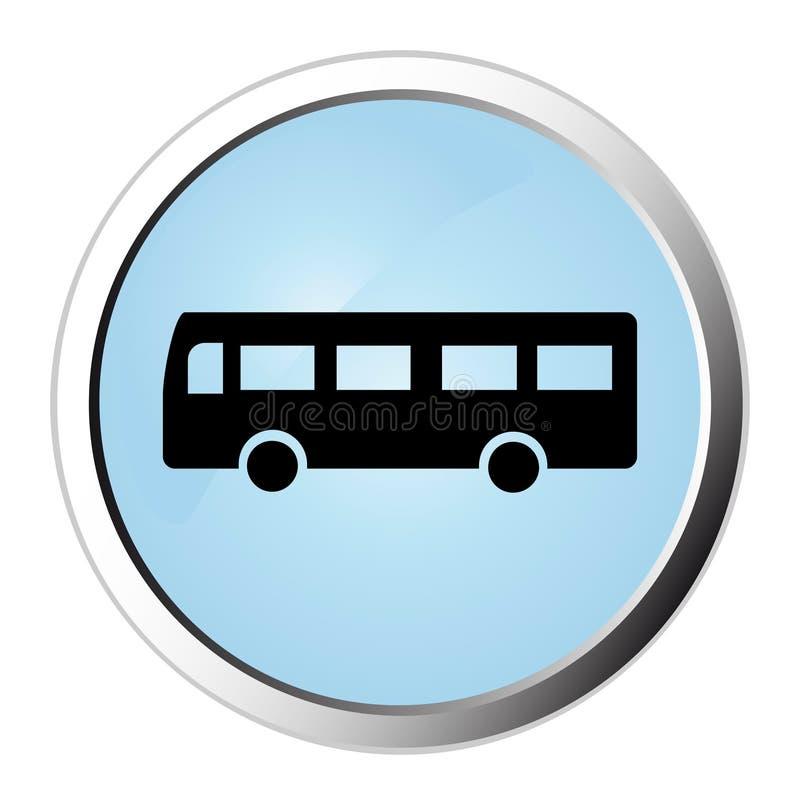 Bouton de Web de bus illustration de vecteur