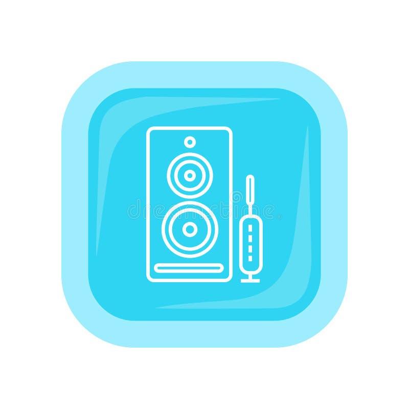 Bouton de Web de haut-parleurs d'ordinateur Haut-parleurs de PC illustration stock