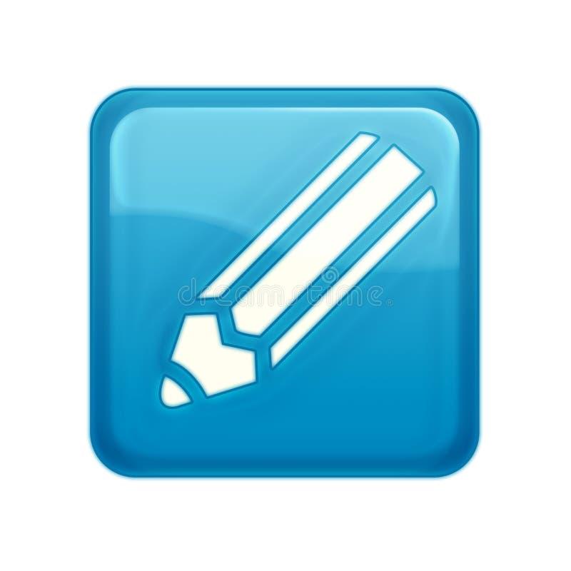 Bouton de Web de type d'Aqua illustration de vecteur