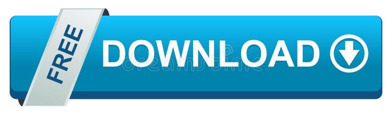 Bouton de Web de téléchargement gratuit d'isolement illustration libre de droits