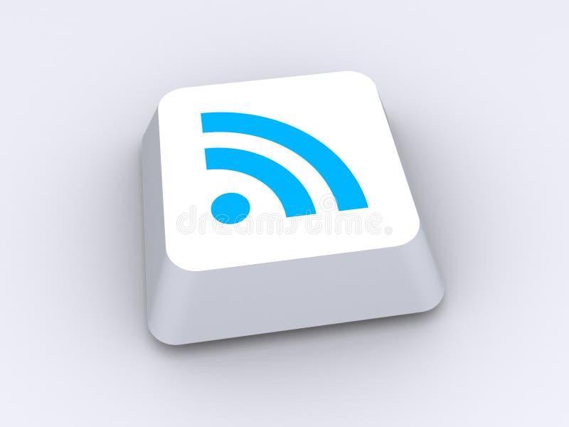 Bouton de Wi-Fi illustration de vecteur