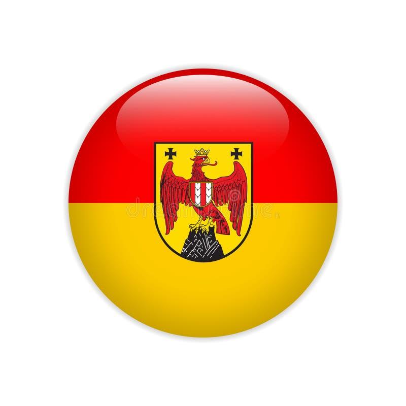 Bouton du Burgenland de drapeau illustration stock