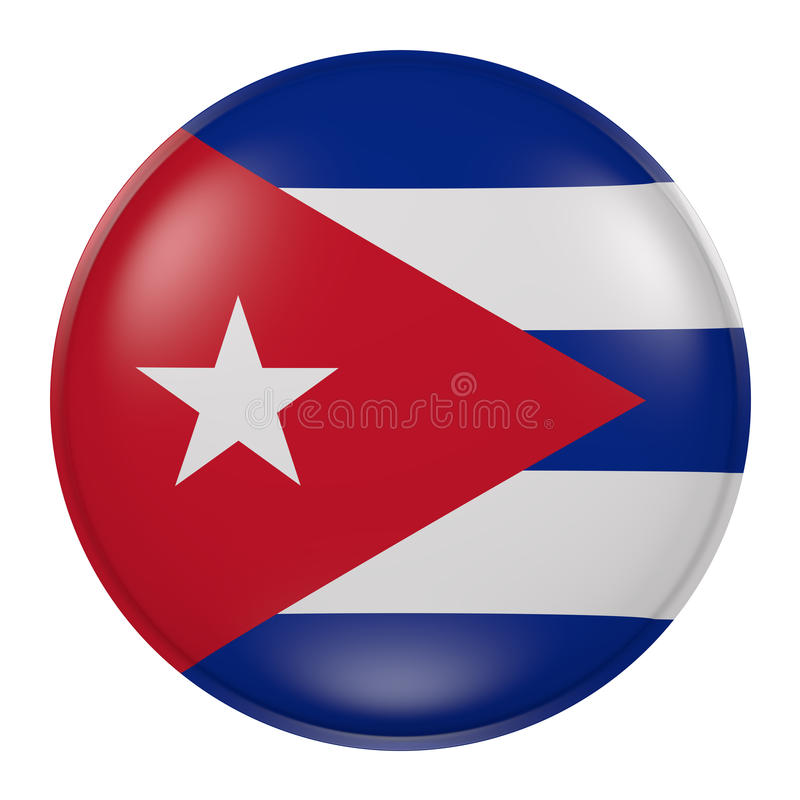 Bouton du Cuba illustration stock